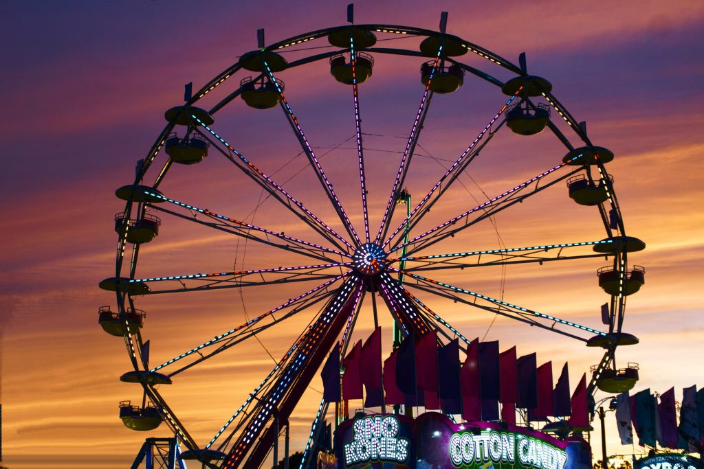 Picture of a carnival which is taxable in texas